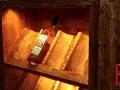Weinregal 12 Flaschen Fichte gehackt und gebeizt Detailansicht 1.jpg